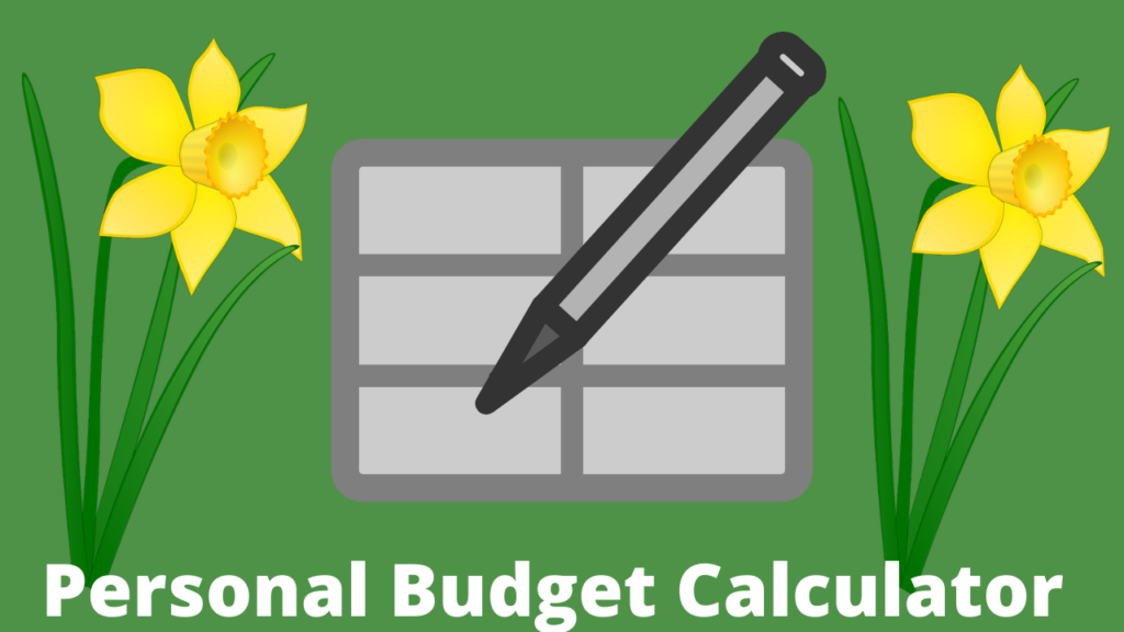 Personal budget calculator for business owners