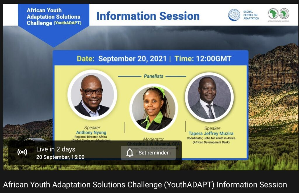 The African Youth Adaptation Solutions Challenge (YouthADAPT) Information Session